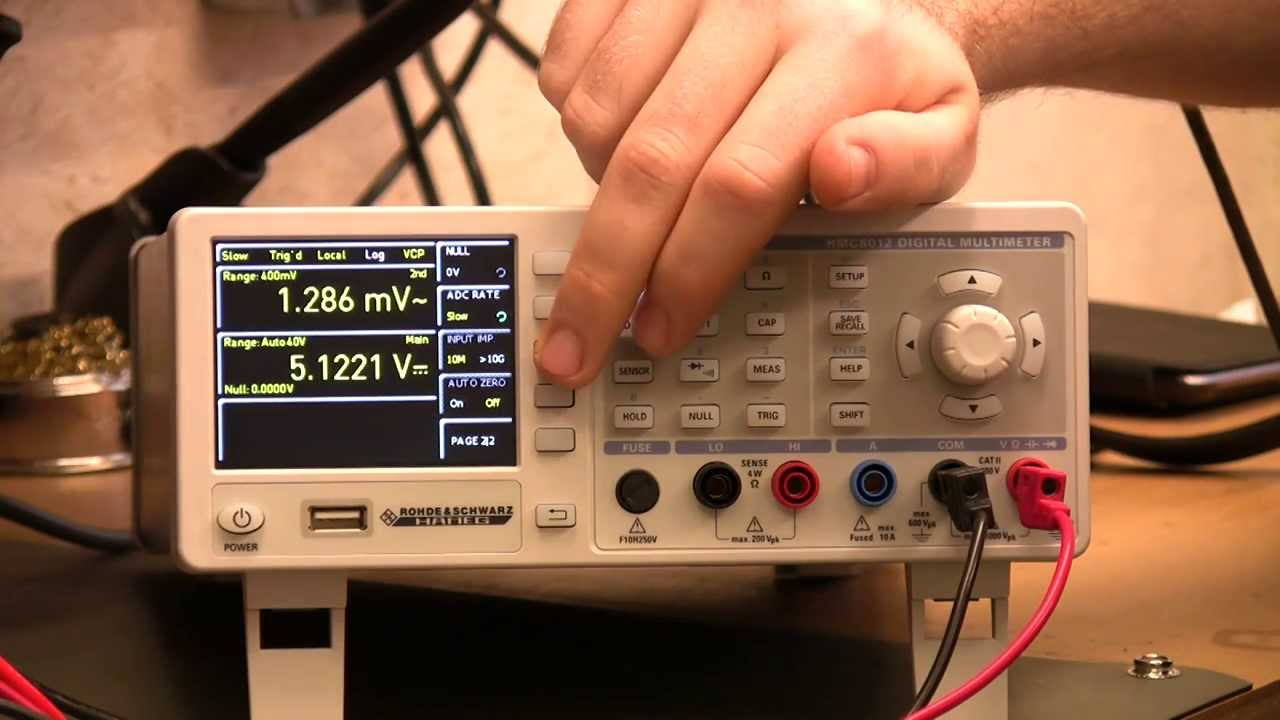 Hameg Hmc8012 Digital Bench Multimeter Review Watt Circuit